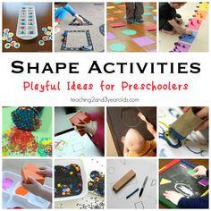 Shape Activities for Preschoolers