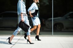 Lou What Wear | NYFW S/S 2015 Street Style | Denim + Black #nyfw