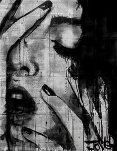 Illustrator Loui Jover painted a new series of illustrations. All illustrations are handled serially in his own style, drawn by ink on the pages of books, newspapers and magazines. Newspaper Art, Desenho Tattoo, Art Graphique, White Art, Face Art, Erotic Art, Collage Art, Collages, Amazing Art