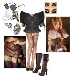 """""""steampunk"""" by hippyrain ❤ liked on Polyvore featuring Funtasma"""