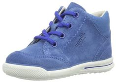 Superfit Avrile Mini – Zapatos de primeros pasos de cuero bebé – unisex, color azul, talla 19