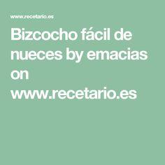 Bizcocho fácil de nueces by emacias on www.recetario.es