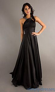 High Neck Floor Length Dress at SimplyDresses
