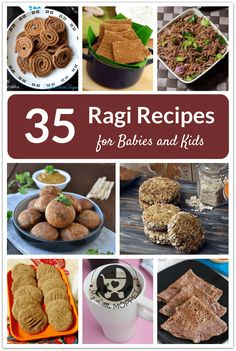 Ragi or Finger Millet is a superfood that can be used in so many ways besides porridge!   Expand your menu with by trying out these 35 ragi recipes for babies and kids.
