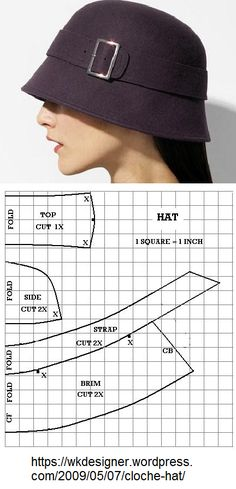 hat hat woman – katy Espineta – Join in the world of pin Hat Patterns To Sew, Sewing Patterns, Sewing Clothes, Diy Clothes, Diy Hat, Fascinator Hats, Hat Making, Sewing Techniques, Sewing Hacks