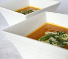 Roasted Carrot Soup. Hot Soup. Cold Summer.
