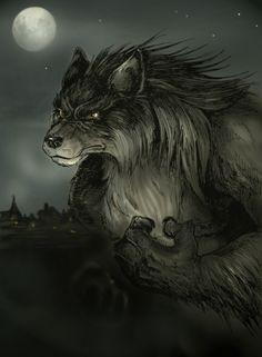 Fan's Werewolf by Zoe Stead - werewolf, wolfman - Art of Fantasy