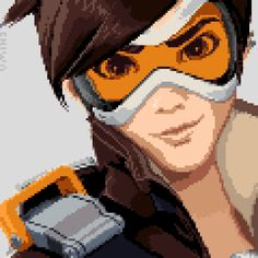 [Pixel Art] - Tracer / Lena Oxton Overwatch Twitter: pic.twitter.com/t8h2lv1GP0