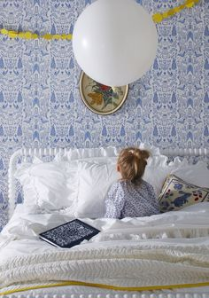 An adorable Nethercote (Blue) bedroom; styling by Mauree McKean