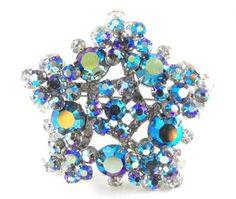 Juliana Jewelry Star Brooch Classic D&E Design Blue by hipcricket, $60.00