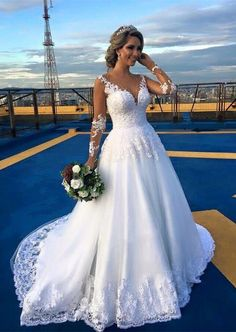 Cheap bridal gown, Buy Quality lace wedding dress directly from China wedding dress long Suppliers: Vestido De Noiva Lace Wedding Dresses Long Bride Bridal Gowns trouwjurk brautkleid casamento Arabic Wedding Dresses, Ivory Lace Wedding Dress, V Neck Wedding Dress, Classic Wedding Dress, Long Sleeve Wedding, Wedding Dresses Plus Size, Cheap Wedding Dress, Bridal Dresses, Gown Wedding