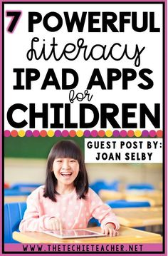 7 Powerful Literacy iPad and iPhone Apps for Children..great way to incorporate digital learning into your reading block! Technology in the elementary classroom.
