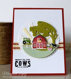 Barnyard Petite Places  from Papertrey Ink  Marybeth