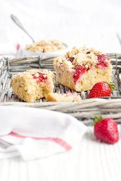 Erdbeer-Grießkuchen