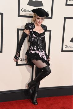 57th GRAMMYs Red Carpet - Madonna - Madonna arrives at the 57th Annual GRAMMY Awards on Feb. 8 in Los Angeles