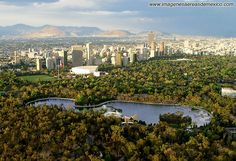 """This is the urban park of Mexico City downtown, called """"Bosque de Chapultepec""""."""