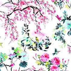 Tissu Chinoiserie Flower