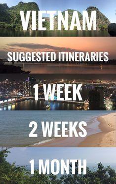 Vietnam itinerary, 1 week, 2 weeks, 1 month travel guide