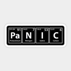 Shop Panic Elements Spelling panic stickers designed by cerebrands as well as other panic merchandise at TeePublic. Diy Sticker, Stickers Cool, Tumblr Stickers, Anime Stickers, Printable Stickers, Laptop Stickers, Sticker Design, Band Stickers, Panic At The Disco Lyrics
