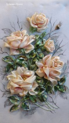 Gallery.ru / Фото #49 - моя вышивка лентами: натюрморты, цветы - irina-zubkova