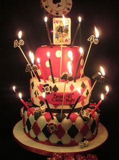 "Photo 19 of 26: Casino Birthday / Birthday ""Brian's 40th Casino Night!"" | Catch My Party"