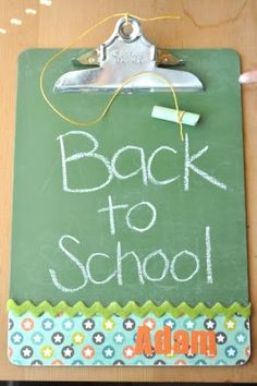 Clipboard Chalkboard Tutorial might be good for traveling with little ones. They can use the chalkboard or as a hard surface to color with crayons and paper. Maybe do the opposite side with dry erase paint for the whole spectrum!