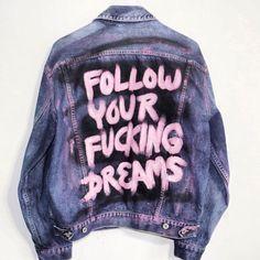 Spray Painted Denim Jacket