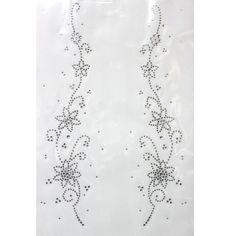 Rhinestone Iron on Transfer Hot fix Motif crystal Fashion Design Sky flower Deco