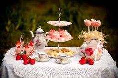 Image result for tea party table