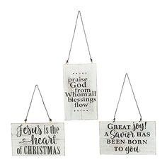 Rustic Faith Sign Christmas Ornaments - OrientalTrading.com