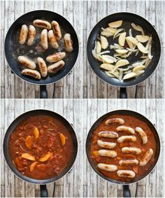 This Devilled Sausages Recipe is the ultimate comfort food. Cooked in one pan with a rich and spicy tomato sauce, quick dinners have never tasted so good! Bratwurst Recipes, Sausage Recipes, Pork Recipes, New Recipes, Cooking Recipes, Deviled Sausages, Sausage And Mash, Spicy Tomato Sauce, Evening Meals