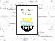 A4 Kunstdruck * Kitchen.. My happy Place *