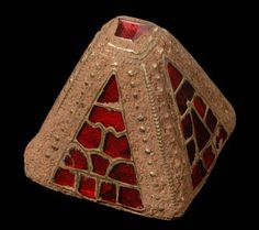 Gold & Garnet Sword Pyramid From The Staffordshire Hoard  --  Anglo Saxon  --  7th-8th Centuries