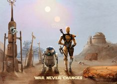 Empire. Rebels. Sith. Jedi.Even in a Galaxy Far, Far away, these two droids know that only one thing is for certain...War.War Never Changes.
