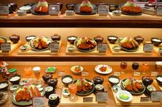Plastic food display in Japan. They are so realistic looking. #Japan #food