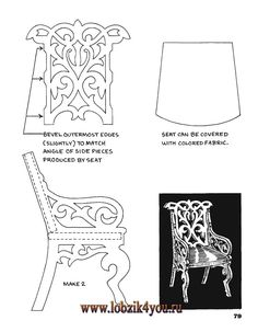 Художественное выпиливание .:. Classic Fretwork Scroll Saw Patterns (Sterling 1991 год)_80