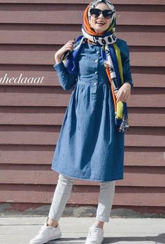 Tesettur Street Hijab Fashion, Abaya Fashion, Muslim Fashion, Modest Fashion, Fashion Outfits, Hijab Style Dress, Casual Hijab Outfit, Hijab Chic, Modele Hijab
