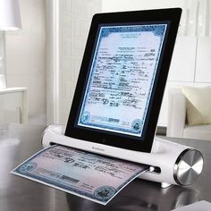 The iConvert® Scanner for iPad and iPad 2 tablets scans in high-resolution 300 dpi for clear, crisp JPEG images.