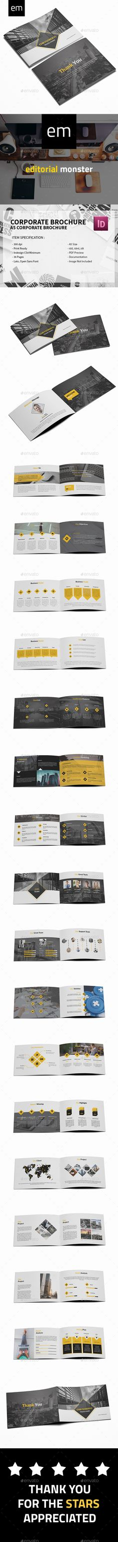Corporate Brochure Template — InDesign INDD #minimalist #hexagonal • Available here → https://graphicriver.net/item/corporate-brochure-template/19587668?ref=pxcr