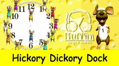 Hickory Dickory Dock | Easy learning to read the time on a clock  | Fami...