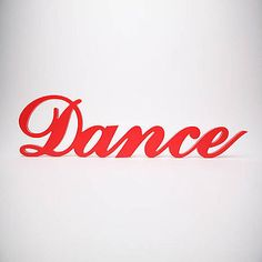 'Dance' Wooden Word Wall Art