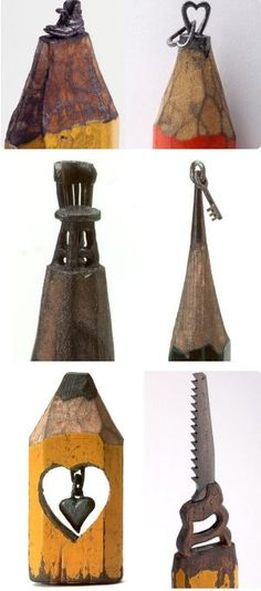 Pencil lead carvings by Dalton Ghetti