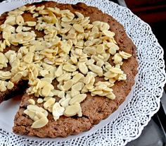 A flourless almond, rum and dark chocolate cake that is perfect for anytime snacking.