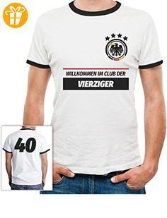 40 Geburtstag Geschenk - Willkommen im Club der 40er Deutschland Trikot  T-Shirt Large Weiß