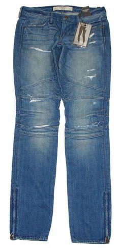 NEW Abercrombie & Fitch Womens Jeans BRETT Skinny Destroyed Denim Blue 0/25 $128 #AbercrombieFitch #SlimSkinny