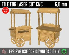 Cnc Plans, Wood Plans, Diy Projects Plans, Woodworking Projects Diy, Laser Cnc, Bar A Bonbon, Sweet Carts, Basic Hand Tools, Candy