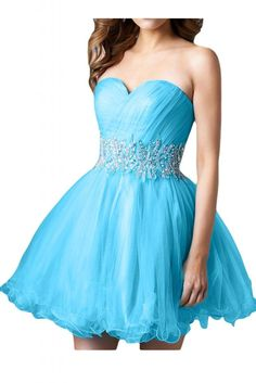 Gorgeous Bridal Tulle Short Ball Gown Skirt Lace-up Party Dress for Sweet 16 at Amazon Women's Clothing store: