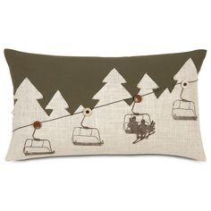 Eastern Accents Ski Lodge Up Lift Lumbar Pillow