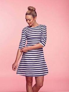 Kostenloses Schnittmuster Kleid Brigitte ❤ mit Anleitung ❤ Sewalong ❤ PDF zum Ausdrucken ❤ Schnittmuster Freebook ✂ Jetzt Nähtalente.de besuchen ✂