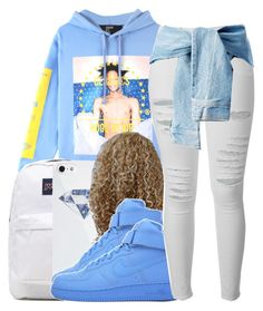 """""""Sweet Dreams"""" by queen-vanessa ❤ liked on Polyvore featuring Hood by Air, JanSport, BlissfulCASE, NIKE and Frame Denim"""